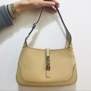 GUCCI AUTH VINTAGE JACKIE HOBO BAG LEATHER